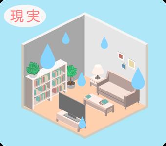 部屋の湿度の現実は場所によってバラバラ