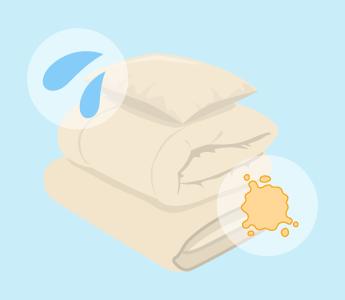使用した布団には汗や汚れがついています