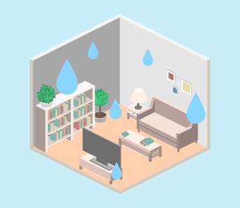 家の構造自体が原因で湿気が溜まりやすい